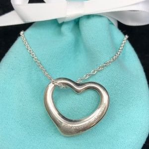 TC197 Silver Open Heart Necklace Peretti Pendant